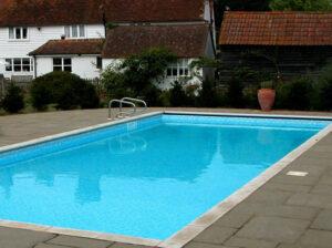 Bazén modrý plastový