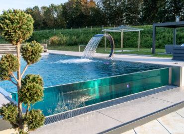 Nerezový nekonečný bazén